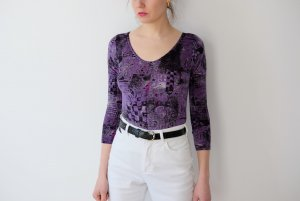 Bodysuit Blouse lilac-black