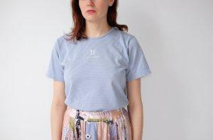 Lang shirt azuur-paars