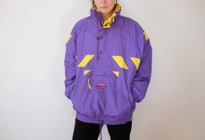 90s skijacke winterjacke windbreaker sportswear lila gelb unisex oversized S M