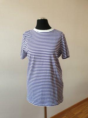 Selected Femme Gestreept shirt wit-blauw