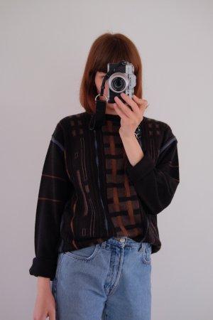 90s strickpulli wolle graphisch geometrisch oversized unisex
