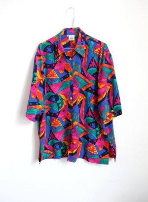 90s vintage bluse graphisches muster halliglalli S M