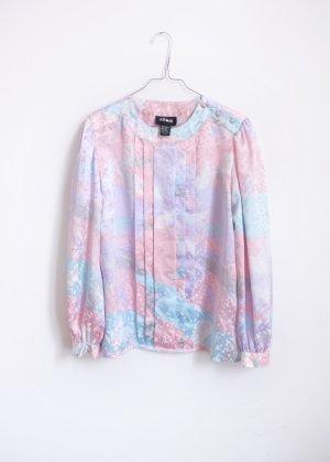 90s vintage bluse pastell glanz oversize S M