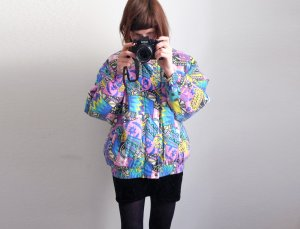 Bomber Jacket multicolored cotton
