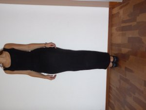 MODSTRÖM Long Dress aus Jersey, Gr. XS, schwarz