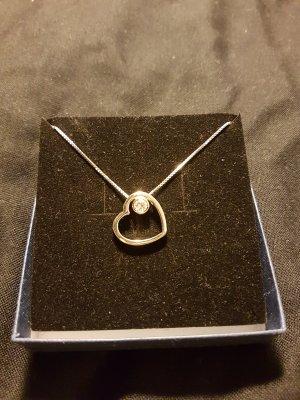 925 Echt Silber Kette Herz mit Steinchen von Manguun