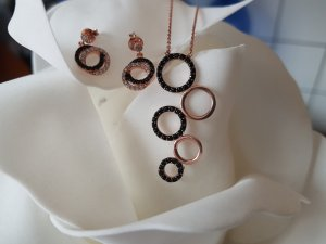 Pendant rose-gold-coloured real silver