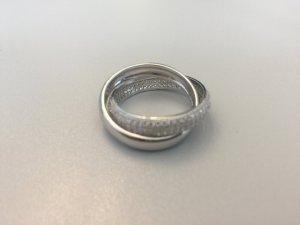 925 Ring Silber rhodiniert Gr. 19 mit Steinen neu