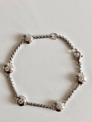925 Silber Armband facettierte Kristalle Bergkristalle Brillant Schliff