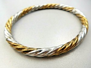 Vintage Bangle silver-colored-gold-colored real silver