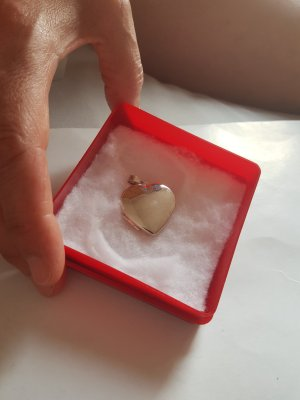 925 Silber Herzanhänger