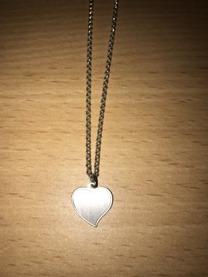 925 Silber Kette mit Herz-Anhänger