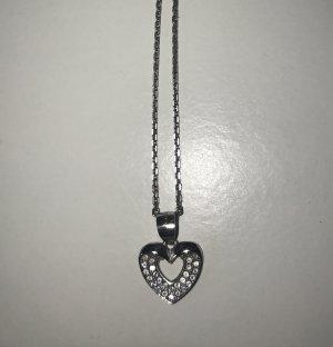 925 Silber Kette mit Herz Anhänger