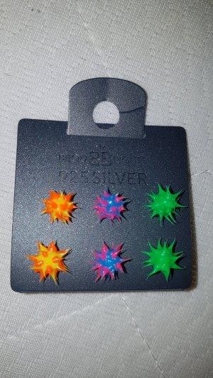 Bijou Brigitte Silver Earrings multicolored