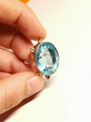 925 Silber Ring Blautopas