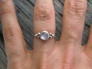 925 Silber Ring mit Mondstein Sterling Vintage Echtsilber