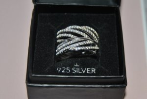 Bijou Brigitte Silver Ring silver-colored real silver