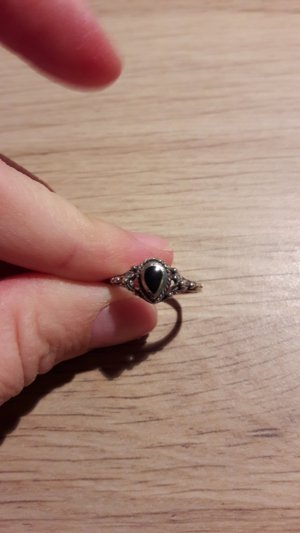 Silver Ring silver-colored-black