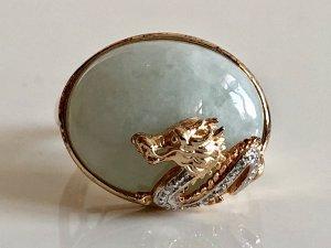 Vintage Zilveren ring veelkleurig Zilver