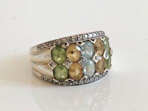 925 Silber Ring Silberring Aqua Citrin Peridot Sterling Silberring