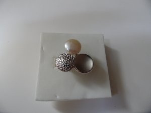 925 Silber Ring Silberring mit Perle
