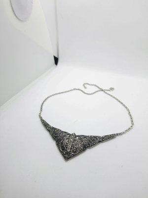 925 Silberkette mit Markasitensteine