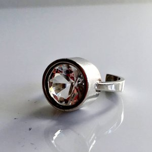 Vintage Silver Ring silver-colored-white