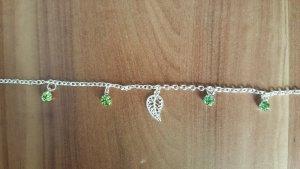 Bracelet en argent argenté-vert