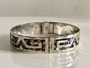 925 Sterling Silber Armband Armreif Mexiko Abalone Silberarmband punziert Vintage