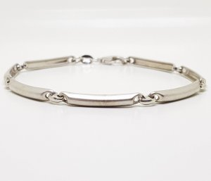 925 Sterling Silber Armband Meister Punze Gliederarmband