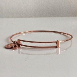 925 Sterling Silber Armreif Armband Rosé Gold vg Handmade in Italy Glücksbringer Bettelarmband Charm