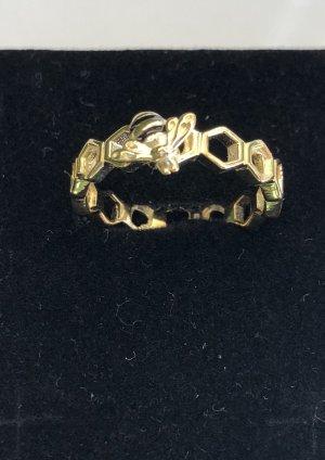 Zilveren ring geel-zwart