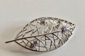 925 Sterling Silber Brosche Modern Art Kristalle Meisterpunze Juwelierstück Vintage