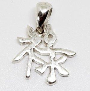 925 Sterling Silber Chinesisches Charm Glücksbringer Anhänger 925er Silberanhänger