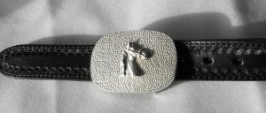925 Sterling Silber Gürtelschnalle Pferdekopf silver belt buckle neuwertig!!