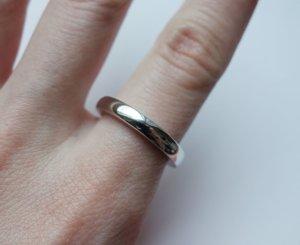 925 Sterling Silber Silberring klassischer puristischer Ring punziert Damen und Herren Ø1,9cm