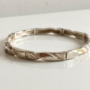 925 Sterling Silber vg. Gold Armband Vintage  Silberarmband Echtsilber