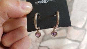 Clou d'oreille argenté-gris lilas argent