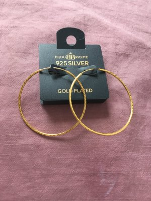 925er Echtsilber vergoldete Creolen