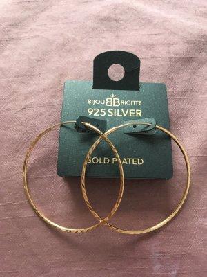 925er Echtsilber vergoldete (rosé-gold) Creolen