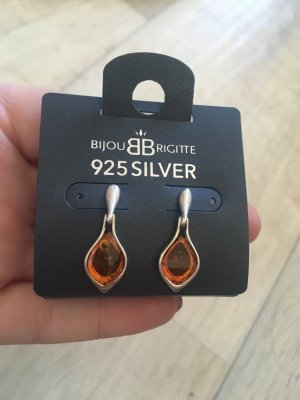 925er Silber Bernstein-Ohrringe