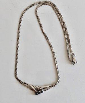 925er Silber Kette Collier Saphir edel steinbesatz