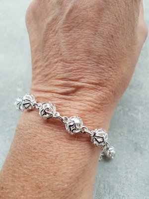 925er Silber platiertes Silberarmband