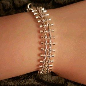 925er silber plattiertes armband