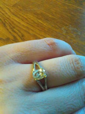 925er Silber Ring mit Zirkon