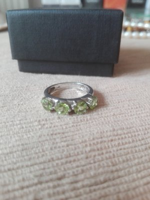 Silver Ring silver-colored-lime-green real silver