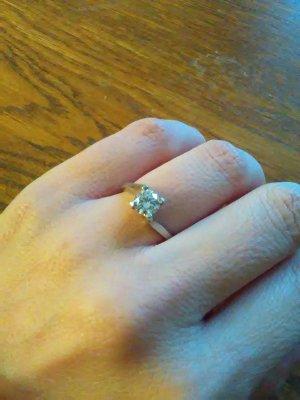 925er Sterling Silber Ring mit Zirkon
