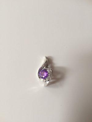 Pendant silver-colored-lilac