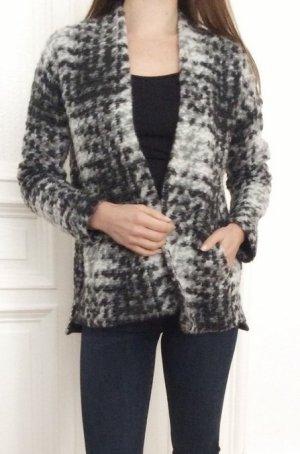 99,99€ Sissy Boy Luxus Cardigan dick kuschelig Wolle meliert grau S 36 NEU