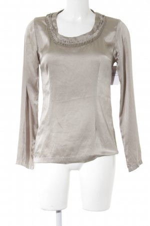 9TO5 Blusa de manga larga color plata look efecto mojado